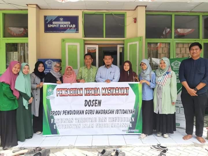 Prodi PGMI UIN Alauddin melaksanakan Pengabdian Kepada Masyarakat (PKM) di SDIT Ikhtiar