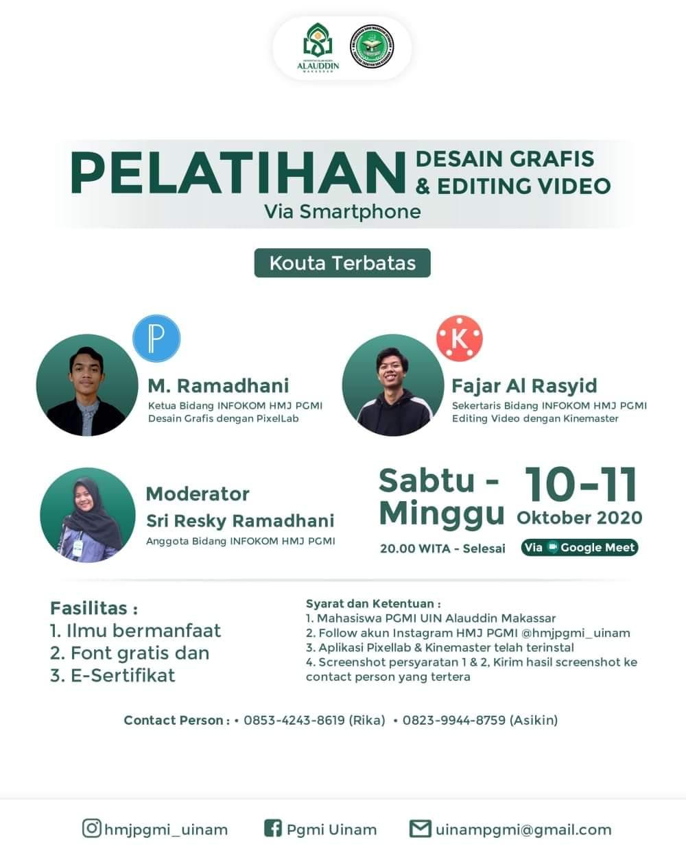 PELATIHAN DESAIN GRAFIS & EDITING VIDEO VIA SMARTPHONE